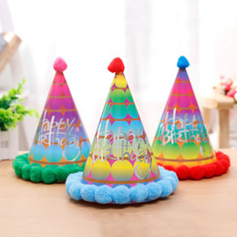 Wholesale paper pirates - 20PCS Set Hat Festive Birthday Party Christmas hat Colorful Mini Paper Hats birthday party supplies Mixed color