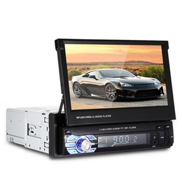 Wholesale Auto Screens - Universal 1 Din 7.0 inch TFT LCD Screen Car DVD Multimedia Player MP5 Bluetooth Auto Audio stereo FM Radio 12V