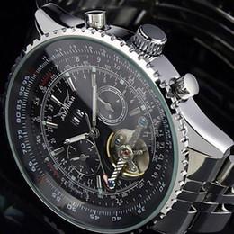 Женские часы jaragar онлайн-New JARAGAR  Big Face Three Dial Calendar Stainless Steel  Automatic Mechanical Watches for Men Hodinky