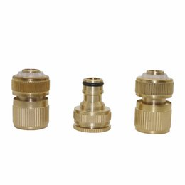 Wholesale Gun Brass - 1 set 1 2' Waterproof Joints with Brass Faucets Standard Connector and G1 2'' and G3 4''double-joint Water Gun Accessories