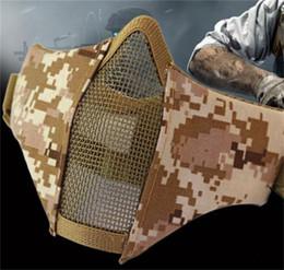 Tattiche maschera d'acciaio Mezza Faccia Attrezzature per l'esterno Rete di ferro Proteggi maschere di ventilazione soffici e creative flessibili Regolabili 28yd jj da