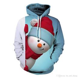Wholesale Christmas Snowman Costume - 2018 Newest Christmas Theme Costumes Women Hoodies Sweatshirt 3d snowman Pattern Tracksuit Casual Unisex Christmas Pullover Tops