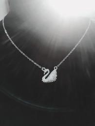 2019 porzellan großhandel anhänger antik Geheimnisvolle schwan pandant halsketten für frauen charme mode collier party hochzeit schmuck kristall choker jahrestag geschenk