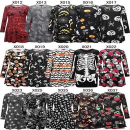 Nueva Moda Mujeres niñas Elegante Chrismas Calabaza de Halloween Mini vestido de Manga Larga Bodycon cráneo Esqueleto Primavera Vestidos de Fiesta desde fabricantes