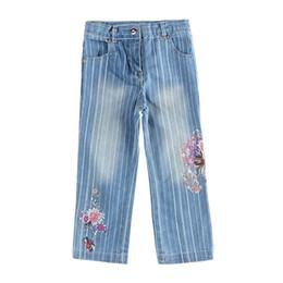Дети в джинсах онлайн-novatx G1480 девочки одежда дети дети бренд мода джинсы брюки для девочки красивые дети девочки причинно носить 2017