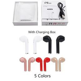 Canada Bluetooth écouteurs sans fil i7S TWS Twins écouteurs sans fil avec chargeur V4.2 casque stéréo pour iPhone X IOS Android 1 PC Offre