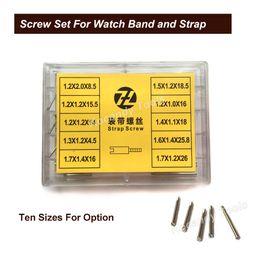 Canada Tube de vis à vis pour la bande de montre en métal 50pcs 10 tailles Outils de réparation en acier inoxydable Pièces de montre 8.5mm - 26mm Livraison gratuite cheap watch parts Offre
