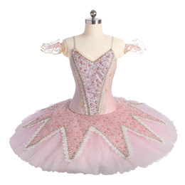 make tutu skirts for adults Promo Codes - FLTOTURE Sleeping Beauty Dance Costumes Girls Lace Pink Tutu Skirt For Ballet Performance Adult Ballet Pancake Tutus China Made