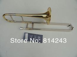posaunenmessinginstrument Rabatt Bach Brand New Eb-Alt-Posaune Messingkörper Goldlack Oberfläche Posaune E-Dur Student Horn Nice Sounds Tuba Instrument mit Koffer
