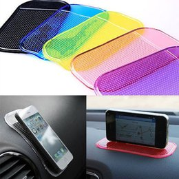 2019 almohadilla de gel de teléfono celular Multifuncional Útil Sticky Pad Anti-Slip Mat Gel Dash Car Cocina Baño Soporte para teléfonos celulares, llaves. monedas almohadilla de gel de teléfono celular baratos