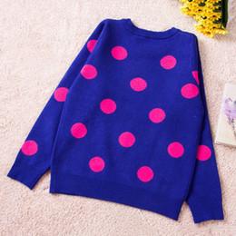 2019 roupas de inverno para meninas de um ano Meninas adolescentes Suéteres Outono Inverno Camisola das Crianças Para As Meninas de 8 12 Anos de Idade Quente Dot Camisola De Malha Pullover Roupas Bonitas desconto roupas de inverno para meninas de um ano