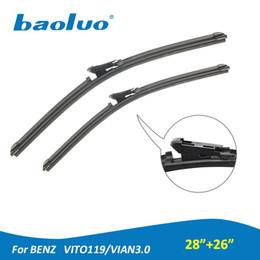 "Wholesale benz vito - Car Windshield Wiper Blades For Mercedes-Benz Vito119 Vian3.0 28""+26"" Natural Rubber,Bracketless,Windscreen Wipers,Auto Accessories"