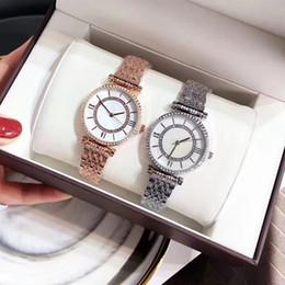 2019 relojes de lujo de oro rosa 2019 comercio al por mayor reloj de lujo mujer reloj Oro rosa Cuarzo Japón Movimiento Vestido Reloj con pulsera de diamantes de alta calidad Lady pink drop ship rebajas relojes de lujo de oro rosa