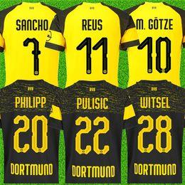 4c3217f95f138 camisa reus Desconto Tailândia 18 19 Borussia Dortmund Futebol Jersey 2019  PHILIPP GOTZE REUS PULÍSTICO WITSEL