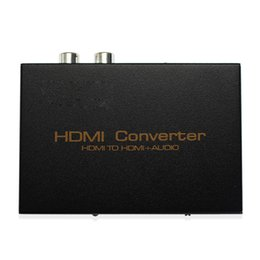 Wholesale Hdmi Rca Audio Splitter - HDMI Converter Audio Extractor HD 1080P HDMI to HDMI Audio SPDIF RCA L R Extractor Splitter with Power Supply Adapter