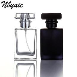 bouteilles de parfum en porcelaine Promotion 30ml verre transparent bouteille vide parfum bouteille atomiseur spray peut être rempli bouteille spray boîte taille voyage portable cadeau Livraison Gratuite