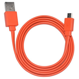 Wholesale 1m Power Cable - Flat Charging Power Supply Cable Cord Line for JBL Bluetooth Speaker Orange