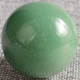Wholesale Green Crystal Sphere - 1 PIC Crystal Sphere 1 pcs 40 mm green aventurine Hand Massager Crystal Balls Healing Chakra Reiki Ball