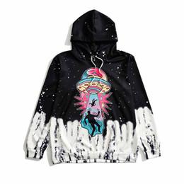 2018 otoño caliente moda gótica Harajuku negro mujer sudadera suelta ocasionales grandes tamaños de dibujos animados 3D con capucha niñas sudaderas con capucha desde fabricantes