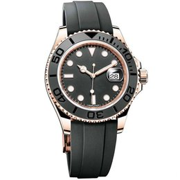 Wholesale Men Yacht - 2018 New luxury brand yacht AAA master Ceramic Bezel Mens Mechanical Stainless Steel Automatic Movement men Watch Sports mens roles Watches