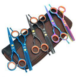 "Wholesale hair scissors kit - Kasho 5.5"" Hairstylist Scissors Hair Cutting Shears Professional Hair Thinning Tijeras Japan Hairdressing Tesoura Hairdresser Razor LZS0697"