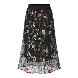 6705daf1655 plus size mid calf skirts Promo Codes - ZANZEA Women Skirts 2018 Summer  Fashion Vintage Floral
