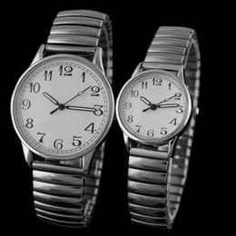 Nuovi orologi elastici online-New Fashion women dress orologi Lovers vintage Watches Elderly cinturino in acciaio elastico orologio al quarzo Reloj Hombre