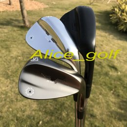 Wholesale Golf Wholesales - 2018 OEM quality golf wedges SM7 wedges silver grey black colors 50 52 54 56 58 60 degree 3pcs with original SM7 grooves golf clubs