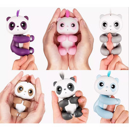Wholesale Baby Interactive - Finger panda Interactive Baby Monkey toys 6 Color With Bonus Stand Sophie Bella Mia Zoe Finn Baby finger Monkeys Novelty Toy