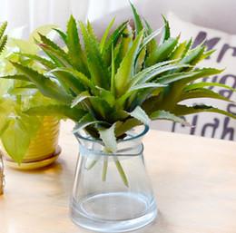 2019 grandi decorazioni di vaso di fiori Large Fleshy Aloe Vera Fiori artificiali Succulente Micro Landscape Piccole piante in vaso Soggiorno Decorazioni floreali grandi decorazioni di vaso di fiori economici
