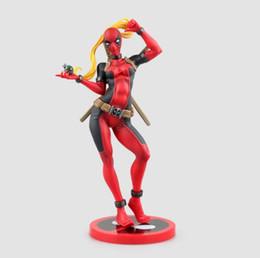 Wholesale Crazy Figures - 23.5cm Crazy Toys X-men Lady Deadpool Bishoujo Statue Doll PVC Action Figure Collectible Model Toy