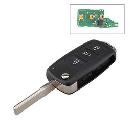 Wholesale Vw Golf Remote Key - 3Buttons 433MHz ID48 Chip Car Remote Key Uncut Blade for VW Volkswagen GOLF PASSAT Tiguan Polo Jetta Beetle 5K0837202AD