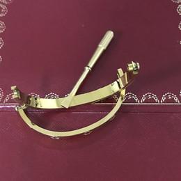 Acier inoxydable Bracelets d'amour argent bracelet en or rose Bracelets Femmes Hommes Tournevis Tournevis Bracelet Couple Bijoux avec logo et dustbag ? partir de fabricateur