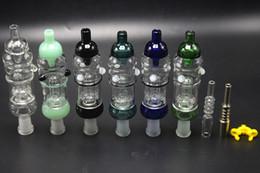 Mignon en Ligne-6 couleurs en verre Bubbler PRO 14mm Diffuseur pour cage à oiseaux Perc avec Titanium Quartz Nickel Oil Rig Verre Eau Bongs Honey Dab Paille Verre Pipes