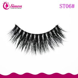 Wholesale Eye Hair Band - wholesale natural hair eyelashes handmade clear band lashes Premium soft clear band mink eyelash for eye makeup ST06