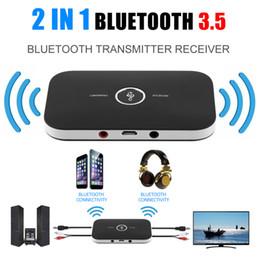 atualização de caixa de tv android Desconto Freeshipping 1 Conjuntos Sem Fio Bluetooth 4.0 2-em-1 Adaptador Transmissor Receptor de Música A2DP Para Telefones Celulares Laptop
