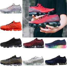 Wholesale Orange Walking Shoes - 2018 New Vapormax Mens Running Shoes For Men Sneakers Women Fashion Athletic Sport Shoe Hot Corss Hiking Jogging Walking Outdoor Shoes 36-45