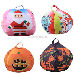 bean bag dolls Promo Codes - Christmas Halloween 26 inches Storage Bean Bags Kids Bedroom Stuffed Animal Dolls Storage bag Plush Toys Large-capacity Spherical Tote C4938