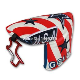 Wholesale United Blades - USA Flag Putter Cover Headcover Magnetic Closure Golf Headcover Blade Style Craftsman Golf United States America Flag
