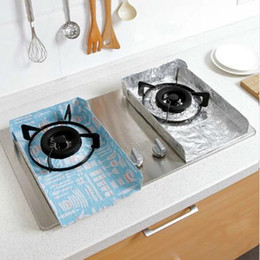 Wholesale clean shield - 2pcs set Gas Stove Oil Splash Protector Burner Cover Cleaning Pad Frying Guard Splatter Shield Screen Cooking Tool Board CCA10064 20set