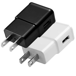 Wholesale Eu Phone Charger - 5V 1A 2A Real Eu US Ac home travel wall charger auto power adapter for samsung galaxy s6 s7 edge s8 s9 note 7 8 iphone 7 8 x android phone
