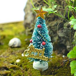 Wholesale Miniature Christmas Ornaments - Mini Artificial Christmas Tree Party Ornaments Figurines Miniatures DIY Home Decorations Crafts Gift Small Pine Trees 3*6.5cm