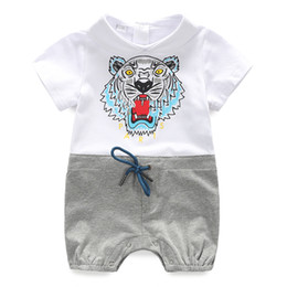 71abe0c45c89 Retail Wild Baby Romper Cotton Short Sleeve Wrap Romper For Baby Boy And  Girl Plain Print Baby Clothes