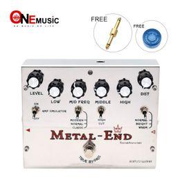 effektpedalanschluss Rabatt Biyang Tonefancier Metal End King Distortion E-Gitarren-Effektpedal True Bypass Design mit Gold Pedal-Anschluss