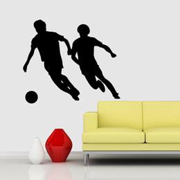 Schlafzimmer fußball tapete online-Fabrik Direktverkauf Fußball Persönlichkeit Einfachen Tapete Kreative Wohnzimmer Schlafzimmer Studie Dekoration Malerei