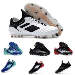 Nuevo Top Copa Tango 18.1 FG zapatos de fútbol para hombre zapatos de fútbol de punta suave Negro Blanco Deportes zapatos de fútbol Zapatillas Talla 39-45 desde fabricantes