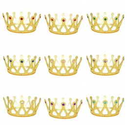 Wholesale colorful crowns - 11 Colors Children Princess Hair Accessories Colorful Crown Girls Christmas Halloween Cosplay Princess Jewelry Party Favor CCA10045 100pcs