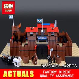Argentina Lepin 33001 742 Unids Genuino Edificio Serie The Idian Cowboy`s Castle Set Educativo Bloques de Construcción DIY Ladrillos Juguetes Modelo 6769 cheap cowboys toys Suministro