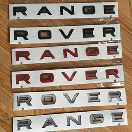 Terres badge autocollant rover en Ligne-ABS Autobiographie Séparé Lettres Emblème Badge Car Styling Repose Capot et Arrière Tronc Logo Autocollant pour Land Rover Range Rover