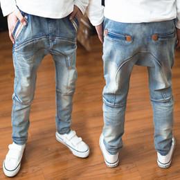 Harem ropa para niños online-Pantalones de niños 2018 nuevo otoño ropa para niños niños grandes jeans muñeca algodón pantalones bebés niños harup roupas infantis menina leggings Y18103008